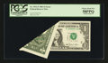 Error Notes:Foldovers, Fr. 1911-F $1 1981 Federal Reserve Note. PCGS Choice About New 58PPQ.. ...