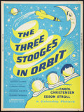 """Movie Posters:Comedy, The Three Stooges in Orbit (Columbia, 1962). Poster (30"""" X 40""""). Comedy.. ..."""