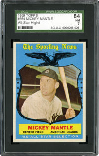 1959 Topps Mickey Mantle All-Star #564 SGC 84 NM 7