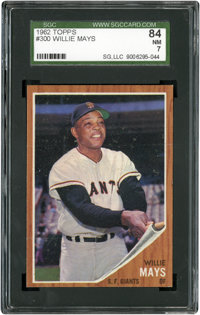 1962 Topps Willie Mays #300 SGC 84 NM 7
