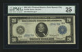 Large Size:Federal Reserve Notes, Fr. 1000 $20 1914 Federal Reserve Note PMG Very Fine 25.. ...
