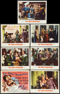 """Movie Posters:Swashbuckler, The Three Musketeers (MGM, R-1956). Title Lobby Card and Lobby Cards (6) (11"""" X 14""""). Swashbuckler.. ... (Total: 7 Items)"""