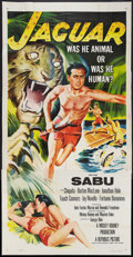 "Movie Posters:Adventure, Jaguar (Republic, 1955). Three Sheet (41"" X 81""). Adventure.. ..."