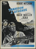 """Movie Posters:War, The Angry Hills (MGM, 1959). French Affiche (23.5"""" X 31.5""""). War....."""