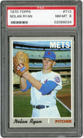 Baseball Cards:Singles (1970-Now), 1970 Topps Nolan Ryan #712 PSA NM-MT 8....