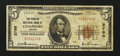 National Bank Notes:Virginia, Lynchburg, VA - $5 1929 Ty. 1 The Peoples NB Ch. # 2760. ...