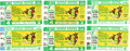 Baseball Collectibles:Tickets, 1972 and 1973 World Series Ticket Stubs Lot of 6....