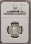Seated Quarters, 1876 25C MS65 NGC....