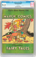 Golden Age (1938-1955):Funny Animal, March of Comics #6 Popular Fairy Tales (K. K. Publications, Inc.,1947) CGC NM- 9.2 White pages....