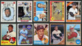 Baseball Cards:Lots, 1959-1971 Topps Baseball Hall of Famers Collection (21) With SignedErnie Banks Card....