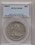 Early Half Dollars, 1806/5 50C XF40 PCGS. O-102, High R.3....