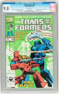 Modern Age (1980-Present):Science Fiction, Transformers #18 (Marvel, 1986) CGC NM/MT 9.8 White pages....