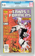 Modern Age (1980-Present):Science Fiction, Transformers #17 (Marvel, 1986) CGC NM/MT 9.8 White pages....