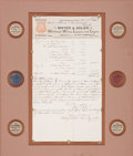 """Autographs:Celebrities, Mayer & Adler Invoice with Six Ad Chips. One page, 8.5"""" x15.5"""", San Antonio, November 24, 1894. The invoice, made out toPa..."""
