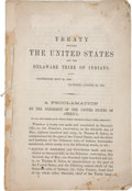 Miscellaneous:Booklets, Treaty Between the United States and the Delaware Tribe ofIndians. Concluded May 30, 1860. Ratified August 22,1860...