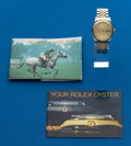 Timepieces:Wristwatch, Rolex Gent's Ref. 16233 Two Tone Oyster Perpetual Datejust, circa1987. ...