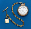 Timepieces:Pocket (post 1900), Hamilton 21 Jewel Grade 992, with Chain. ...