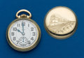 Timepieces:Pocket (post 1900), Elgin 23 Jewel, 16 size B.W. Raymond, Locomotive Case. ...