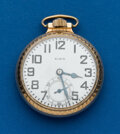 Timepieces:Pocket (post 1900), Elgin 21 Jewel 16 Size B.W. Raymond. ...