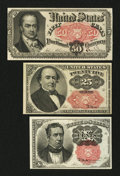 Fractional Currency:Fifth Issue, 10¢; 25¢; 50¢ Fifth Issue Fractionals.. ... (Total: 3 notes)