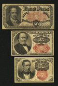 Fractional Currency:Fifth Issue, 10¢; 25¢; 50¢ Fifth Issue Notes.. ... (Total: 3 notes)
