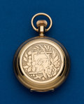 Timepieces:Pocket (pre 1900) , Waltham, 14k Gold, 6 Size Hunters Case. ...