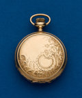 Timepieces:Pocket (post 1900), Waltham 14k Gold O Size Hunters Case. ...