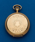 Timepieces:Pocket (post 1900), Illinois 14k Gold 16 Size Hunters Case. ...
