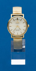Timepieces:Wristwatch, Omega Gold & Steel Seamaster De Ville. ...