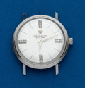 Timepieces:Wristwatch, Jules Jurgensen 14k White Gold Diamond Dial Wristwatch. ...