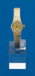 Timepieces:Wristwatch, Omega 14k Gold & Diamond Ladies Wristwatch. ...
