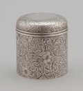 Silver Holloware, American:Tea Caddies, AN AMERICAN SILVER COVERED BOX. Tiffany & Co., New York, NewYork, circa 1884. Marks: TIFFANY & CO. 7970 MAKERS 6431.4 ...