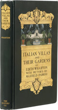 Books:First Editions, [Maxfield Parrish, illustrator]. Edith Wharton. Italian Villasand Their Gardens. New York: The Century Company,...