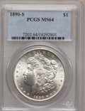 Morgan Dollars: , 1890-S $1 MS64 PCGS. PCGS Population (2659/728). NGC Census: (1903/351). Mintage: 8,230,373. Numismedia Wsl. Price for prob...