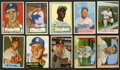 Baseball Cards:Lots, 1952-1955 Topps and Bowman Baseball Collection (22) With ManyHoFers. ...