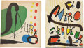 Books:First Editions, [Joan Miró]. Two Books on the Graphic Arts of Miró, including:His Graphic Work. Introduction by Sam Hunter. New Yor...(Total: 2 Items)