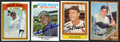 Autographs:Sports Cards, Baseball Stars & Hall of Famers Signed Card Group of (4)....