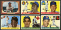 Baseball Cards:Lots, 1955 Topps and Bowman Baseball Hall of Famers Collection (6). ...