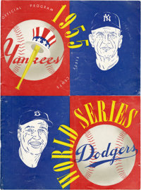 1955 World Series Program