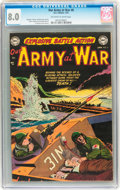Golden Age (1938-1955):War, Our Army at War #6 (DC, 1953) CGC VF 8.0 Off-white to whitepages....