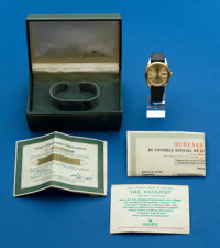 Rolex 18k Ref. 1503 Oyster Perpetual Datejust, Box & Papers, circa 1967
