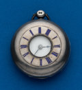 Timepieces:Pocket (pre 1900) , W. Trimmel Canterbury, Sterling Demi-Hunter Lever Fusee. ...