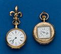 Timepieces:Pocket (post 1900), Two 14k Gold Pendant Watches. ... (Total: 2 Items)