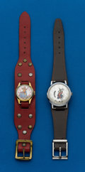 Timepieces:Wristwatch, Two - Character Wristwatches, Cowboy With Moving Six Shooter & Goofy. ... (Total: 2 Items)