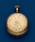 Timepieces:Pocket (post 1900), Waltham, 14k, 0 Size Hunters Case. ...