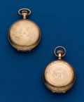 Timepieces:Pocket (post 1900), Two - 6 Size, Gold Filled Hunters Cases. ... (Total: 2 Items)