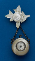 Timepieces:Pocket (post 1900), Swiss, Ball Shaped, Mother of Pearl Watch. ...
