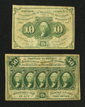 Fractional Currency:First Issue, Fr. 1242 and 1313 First Issue Notes Fine.. ... (Total: 2 notes)
