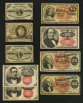Fractional Currency:Third Issue, Nine Fractionals.. ... (Total: 9 notes)