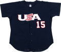 Baseball Collectibles:Uniforms, Justin Upton Game Worn Team USA Jersey. Justin Upton was the 2005overall number one selection in the 2005 MLB Draft when t...